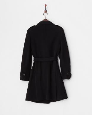 ブラック 衿刺繍入りコート見る