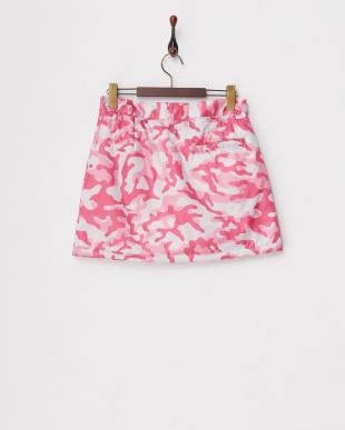 PINK CAMO  カモ パデッドスカート見る