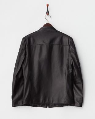 ブラック スタンドカラーシングルジャケット見る