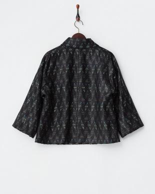 ブラック×ブルー系 マリア・ケント社 オプティカルジャカード ジャケット見る