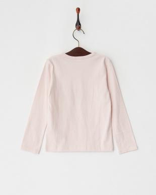 ピンク  フラワーモチーフレースTシャツ見る