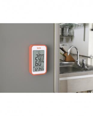オレンジ デジタル温湿度計 TT-559見る