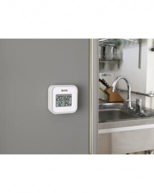 グレー デジタル温湿度計 TT-558見る