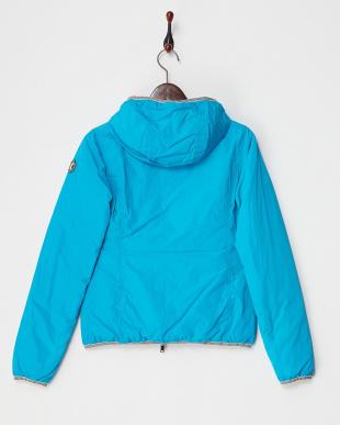 ブルー  中綿ショートジャケット見る