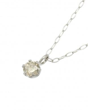 Pt 天然ダイヤモンド 0.1ct プラチナネックレス見る