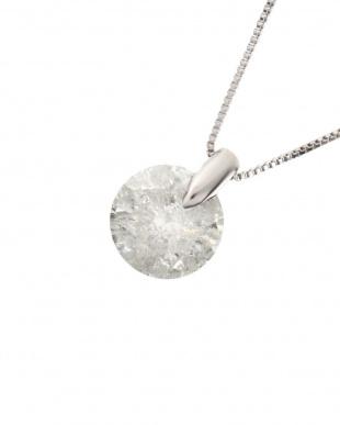 Pt 天然ダイヤモンド 1ctアップ ワンポイント留め プラチナネックレス見る