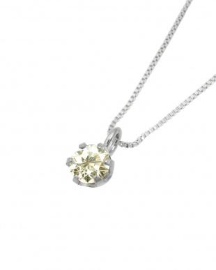 Pt 天然ダイヤモンド 0.1ct SIクラス プラチナ6本爪ネックレス・ベネチアンチェーン見る