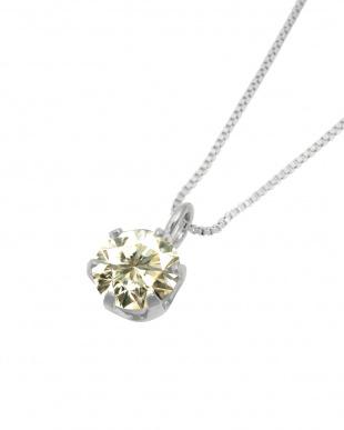 Pt 天然ダイヤモンド 0.3ct SIクラス プラチナ6本爪ネックレス・  ベネチアンチェーン見る