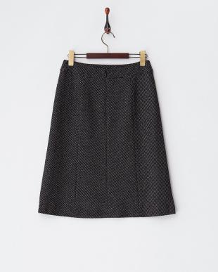 ブラック  ツイードスカート見る