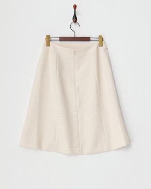 ベージュ  ライトツイード スカート見る