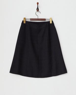 ネイビー  ライトツイード スカート見る