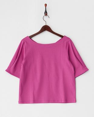 ピンク タックパフ袖PO見る