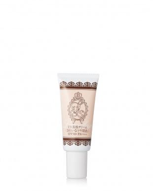UV美容クリーム(きれいなツヤ肌色)+UV ほんのりピンクあがるヴェールパウダー見る