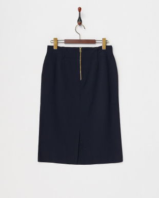 ネイビー リブニットタイトスカート見る