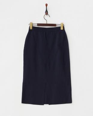 ネイビー ニットタイトスカート見る