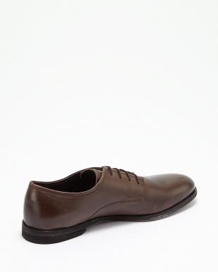 ダークブラウン  プレーントゥ短靴見る