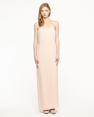 ピンク  バックサテンロングドレス見る