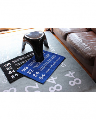BLACK  BUS STATION RUG 50_70見る