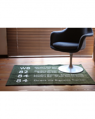 BLACK  BUS STATION RUG 90_130見る