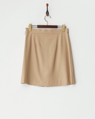 beige  フラットウール スカート見る