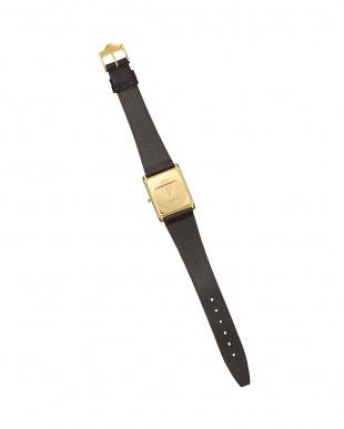 ダークブラウン スクエア メンズ腕時計見る