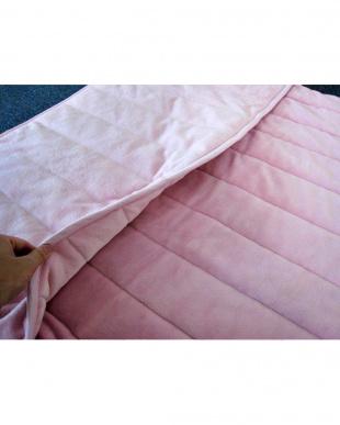 ピンク  [ダブル]発熱素材サンバーナー使用 暖か敷きパッド足入れポケット付見る