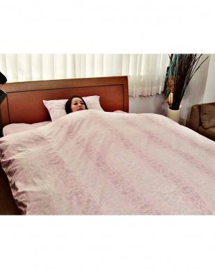 ピンク  [シングル]しわになりにくい掛けカバー・ピロケースセット見る