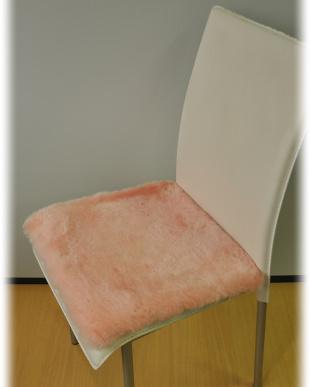 ピンク  ムートン短毛シートクッション 40×40cm見る