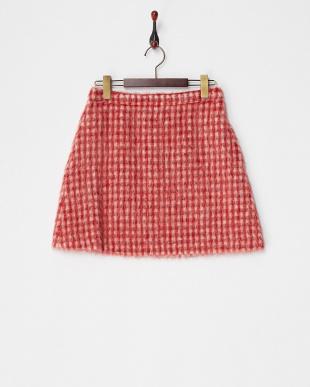 レッド系  DECOLLO シャギースカート見る