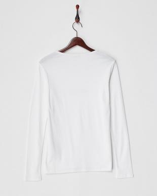 ホワイト  DOLCEZZA ロゴ刺繍長袖Tシャツ見る
