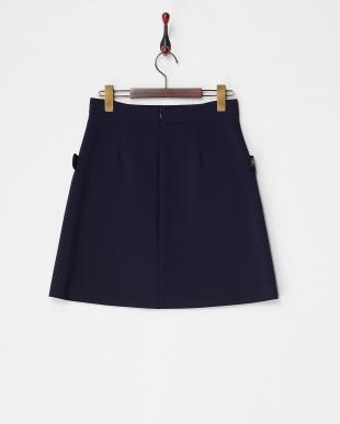 ネイビー  CANTICO デザインポケットスカート見る