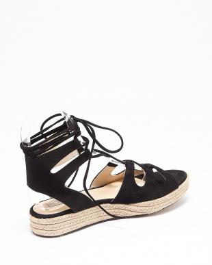 ブラック  laceup sandals見る