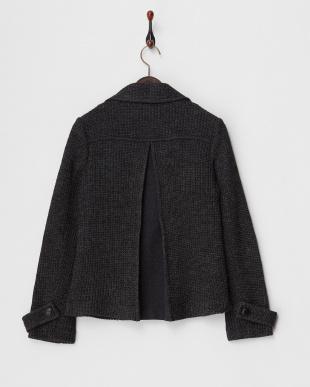 チャコールグレー イタリア素材 ジャージーPジャケット見る