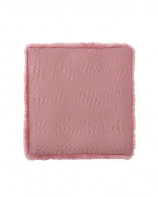 ローズ 洗える羊毛シートクッション 43×43見る