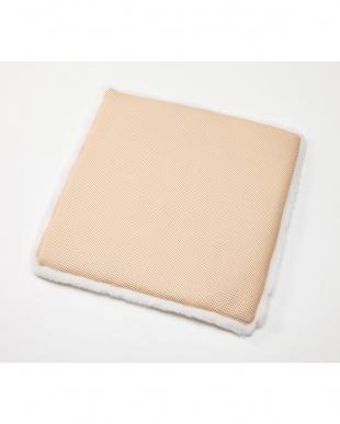 ホワイト 洗える羊毛シートクッション 43×43見る