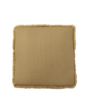 ブラウン 洗える羊毛シートクッション 43×43見る