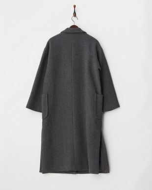 グレー  WOOL GOWN COAT見る