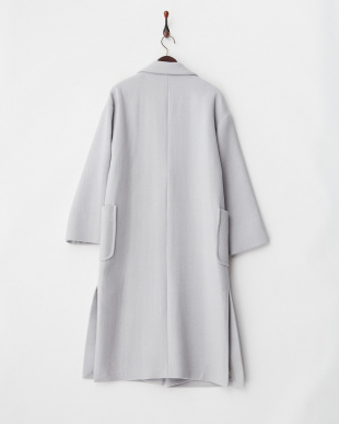 ブルー  WOOL GOWN COAT見る