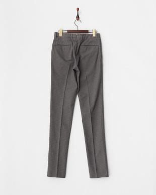 c.gray  HIGH COMFORT 織り柄ノータックパンツ見る