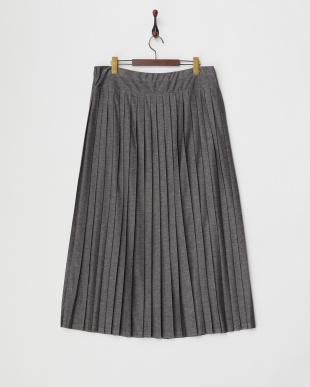グレー OCCULTO ジャージープリーツスカート見る