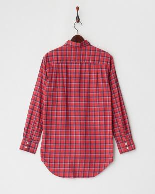 red  チェック柄ヘリンボーンシャツ見る