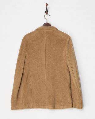 camel  紡毛3つボタンテーラードジャケット見る