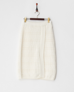 off white  アンゴラ混ウール ラップ風スカート見る