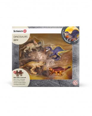 ミニ恐竜とジオラマパズルセット 溶岩ゾーン見る