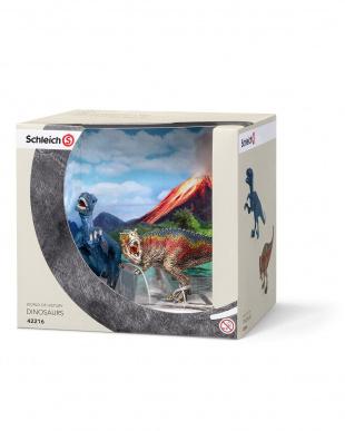 ティラノサウルス・レックスとベロキラプトル(小)見る