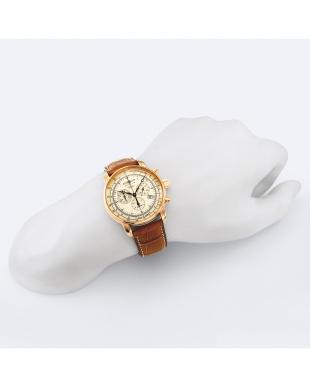 アイボリー 100周年記念モデル クロノ クォーツ腕時計見る