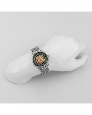 グリーン  100周年記念モデル スケルトン自動巻腕時計見る