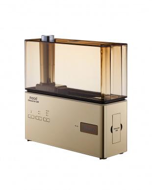 ゴールド  クレベリンLED搭載 超音波式加湿器見る