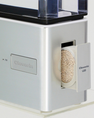 シルバー  クレベリンLED搭載 超音波式加湿器見る