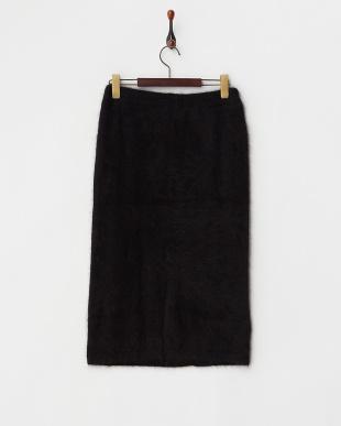 BLACK  アンゴラニットスカート見る